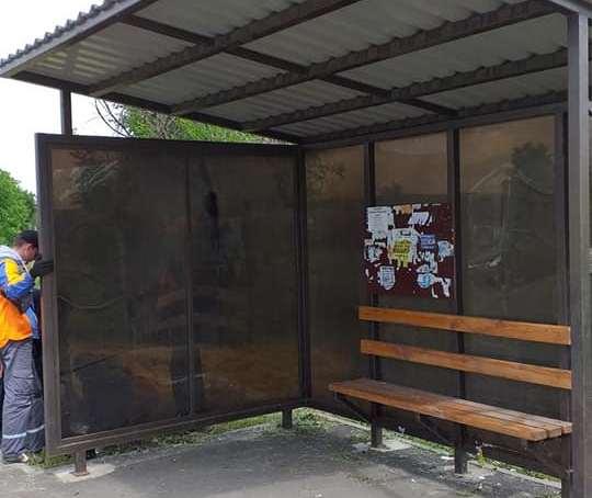 У Краматорську приступили до ремонту зупинок громадського транспорту